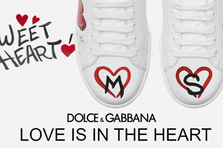 Love is the heart le sneakers personalizzabili di Dolce & Gabbana per San Valentino