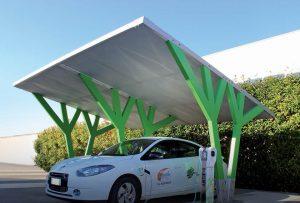 pensiline stazioni ricarica auto elettriche